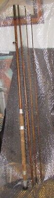 Split Cane Fishing Rod Priory Of Bournmouth Makers With Carrying Sleeve