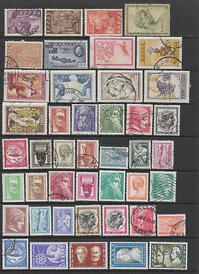 Greece 1949 - 1957 collection , 71 stamps. Mh or fine used