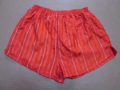 Vintage red nylon football shorts by STEP, size XL, 36""