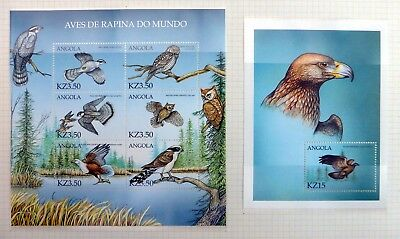 ANGOLA Beautiful Birds on 9 Pages U/M NB4160