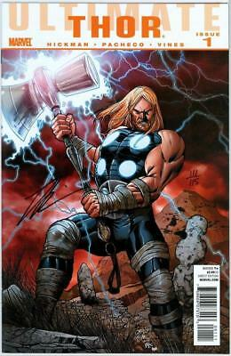 Ultimate Thor #1 Df Dynamic Forces Signed Jonathan Hickman Coa Marvel Movie