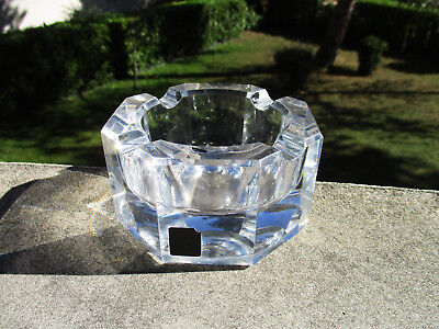 Antique beau ashtray or general use crystal of Saint St louis France signed
