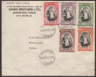 Tonga 1944 Silver Jubilee of Queen Salote's Accession First Day Cover