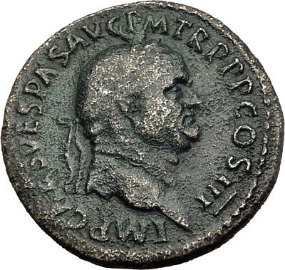VESPASIAN Genuine 71AD Rome Sestertius Authentic Ancient Roman Coin SALUS i64507