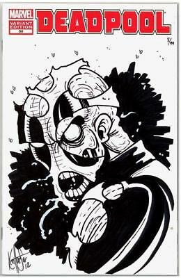Deadpool #50 Dynamic Forces Signed Haeser Remarked Zombie Sketch Low Coa Marvel