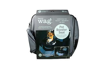 Henry Wag Pet Safety Booster Seat Travel Puppy Dog Car Bed Booter Bag Belt