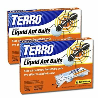 2 Pack Liquid Ant Baits Outdoor Indoor Liquid Killer Bait Tray Trap Ready To Use
