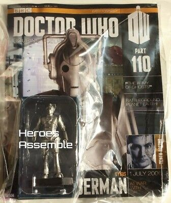 Doctor Who Figurine Collection #110 Cybus Cybermen Eaglemoss (108 109) New