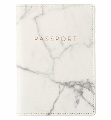 Eccolo Travel Passport Cover Case with Storage Pocket (Marble) New