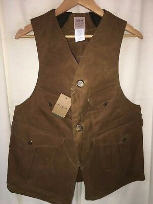 New With Tags Filson Made In Usa Tin Cloth Original Hunting Vest S $235