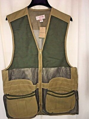 New With Tags Filson Made In Usa Light Shooting Vest M $225