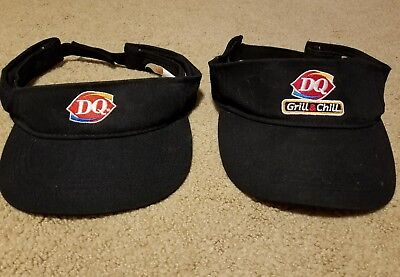 Lot of 2 DQ DAIRY QUEEN EMPLOYEE WORKER VISOR CAPS HATS ONE SIZE