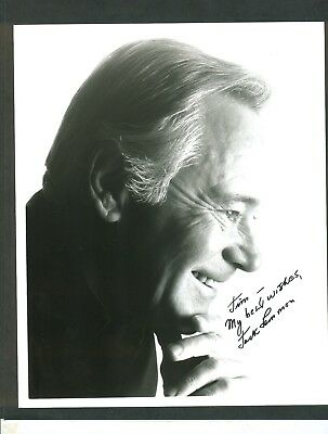 "Jack Lemmon signed & inscribed 8x10"" Glossy Black & White Photo in black sharpie"