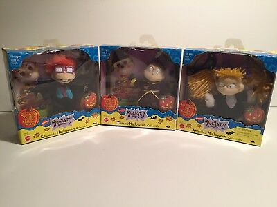Rugrats Halloween Collectible Figures Tommy Chuckie Angelica Mattel