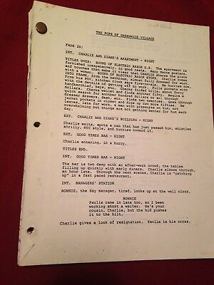 THE POPE OF GREENWICH VILLAGE Mickey Rourke  Eric Roberts ORIG 1984 FILM SCRIPT
