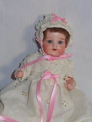 Antique Germany Bisque Head Doll Armand Marseille 990 3/0