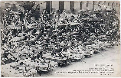 Rare Orig Wwi 1914-17 Guerre Paris Postcard Ensemble Of War Trophies Mortar Guns