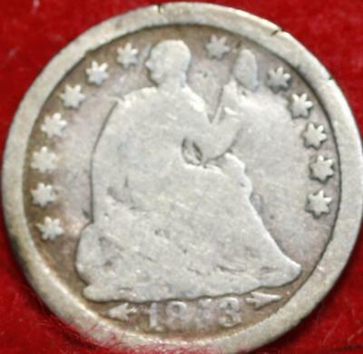 1853-O New Orleans Mint Silver Seated Half Dime Free Shipping