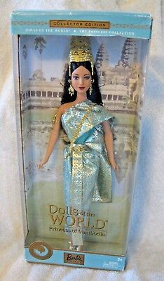 2003 NIP Princess of Cambodia Barbie Doll~Dolls of the World Princess Collection