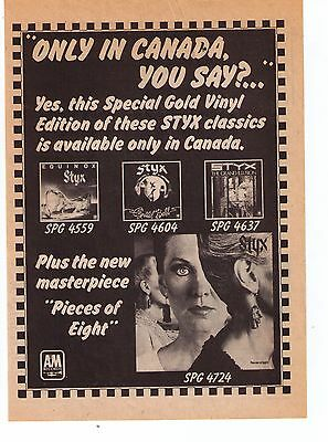 1978 Styx Pieces Of Eight & Album Collection Trade Print Advertisement