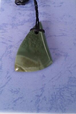 Greenstone Carving - Good luck Pendant - New Zealand Gifts FREE POST carving
