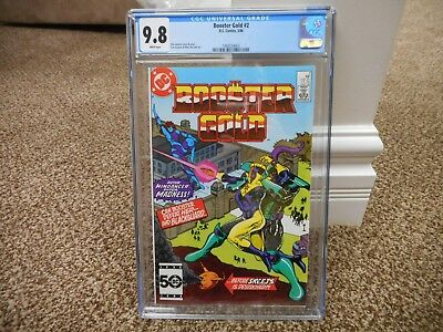Booster Gold 2 cgc 9.8 DC 1986 WHITE pages TV movie 1st series MINT 2nd Skeets