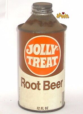 Jolly Treat Root Beer Novelty Cone Top Soda Can Canada Dry? Maywood,il. Illinois