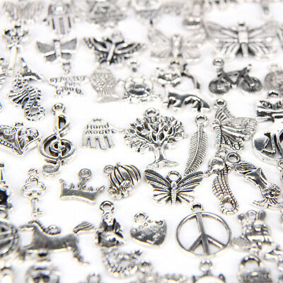 100pc Assorted Charms Pendants Necklace Bracelet for Jewelry Making Craft DIY