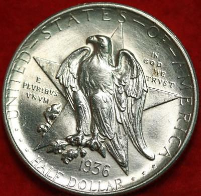 Uncirculated 1936-D Denver Mint Texas Silver Comm Half Free S/H