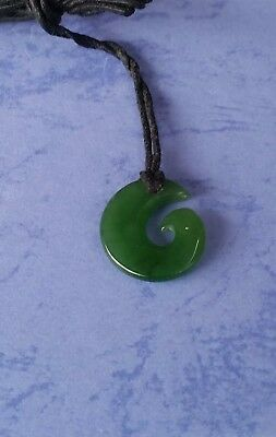 Greenstone Carving - Koru - New Zealand Gifts Hand Made Great kids size freepost