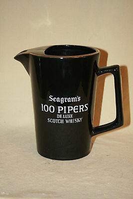Seagram's 100 Pipers De Luxe Whiskey / Water  Pitcher 40903*