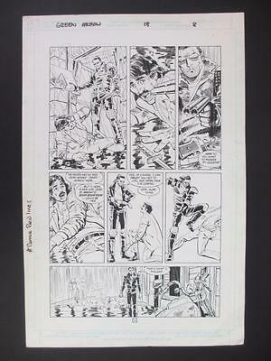 Green Arrow #18 DC 1989 (Original Art) Page 8 by Dan Jurgens & Dick Giordano!!!