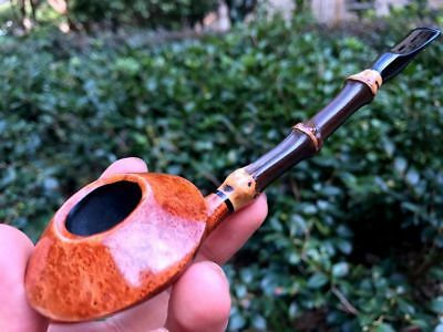 Road Town pipe,Briar wood pipe UFO Bamboo Style---- unsmoked