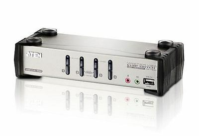 Aten CS-1734B - 4 PORT KVMP SWITCH PS2/USB + AUDIO SUPPORT (4 CABLES INC) 4 ...