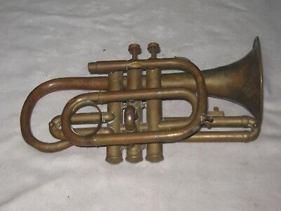 A Vintage Brass Reynolds & Co Challenge Coronet Trumpet distributed by A.P Sykes