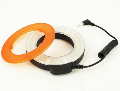 48 LED Rechargeable Video Camera Macro Ring Flash Light For Canon Nikon Pentax