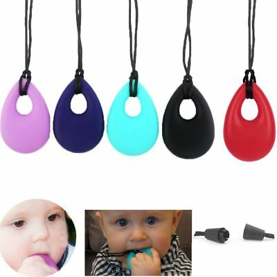 Nursing Supplies Teardrop Silicone Baby Teether Chew Toy Teething Necklace