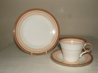 Shelley Art Deco Regent Shades & Lines Tea Trio Truly Stunning