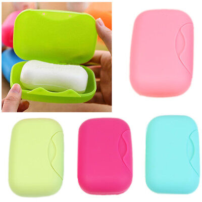 Soap Box Shower Plate Hiking Bathroom Home Case Container Travel Holder Dish