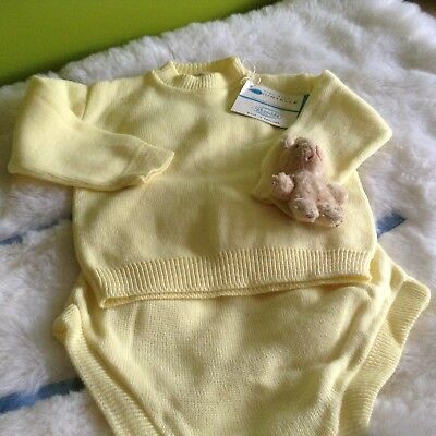 AUTHENTIC VINTAGE  INFANT BABY CHILDRENS 2 PIECE  ROMPER 9 MONTHS 70 s UNUSED
