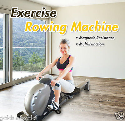 NEW Exercise Rowing Machine Fitness Magnetic Flywheel Gym Power Rower Resistance