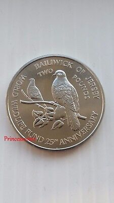 Rare*1987*unc*bailiwick Of Jersey World Wildlife Fund -Wwf £2 Two Pound- Km#70