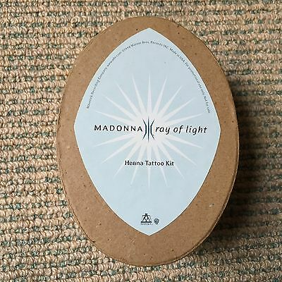 Madonna - Ray Of Light - Rare 1998 USA promo only Henna Tattoo Kit