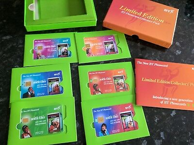 bt phonecards limited edition collectors pack