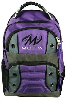 Motiv Intrepid Bowling Ball Company Tournament Backpack Purple/Silver