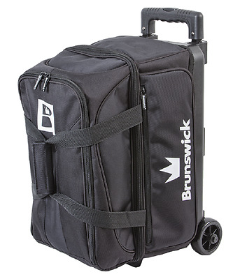 Brunswick Blitz 2 Ball Roller Bowling Bag Color Black