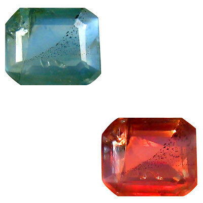 0.39 ct Eye-popping Octagon Shape (5 x 4 mm) Un-Heated Color Change Alexandrite