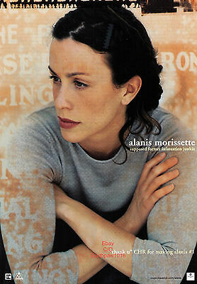 "1998 Alanis Morissette ""Supposed Former Infatuation Addict""  Album Print Advert"