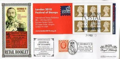 Benham D584 Festival Of Stamps Booklet Pane Fdc 30-3-10 Bpma London Wc Shs F9