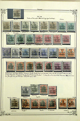 Poland 1918 Fischer# 6/16  44 Stamps Varieties !